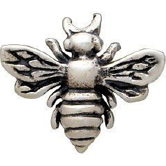 Bumble Bee Yoga Post Earrings in Sterling Silver