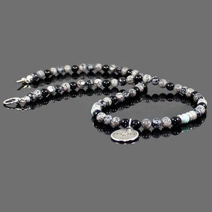 Men's Labyrinth Gemstone Choker Necklace