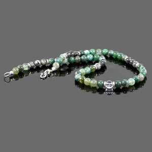 Men's Moss Agate Abundance Choker Necklace