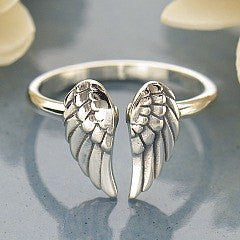 Sterling Silver Angel Wings Ring - Lari's Jewelry Designs