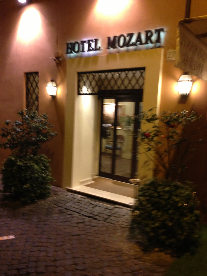 Home sweet away from home. Hotel Mozart on Via del Greci, a...