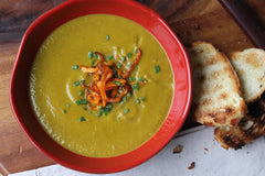 Spinach, Carrot and Coconut Soup