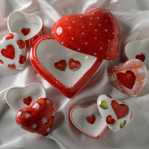 Amore Ceramic Heart Boxes