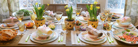 spring or easter table setting
