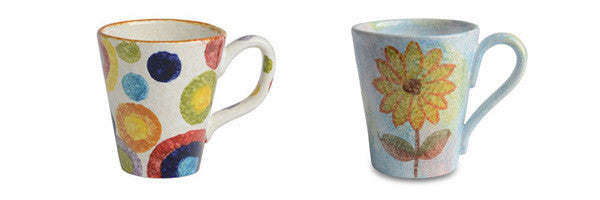 Pop Circle and Primavera Mugs
