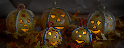 Festa Pumpking Ceramic Votive Holders