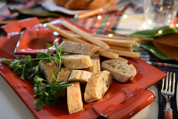 rosso dishes with bread