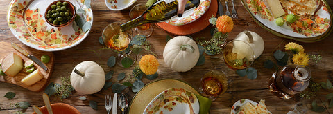 thanksgiving table setting Italian dinnerware