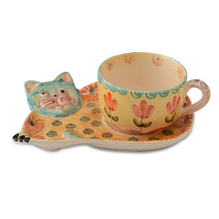 Festa Cat Teacup and Saucer