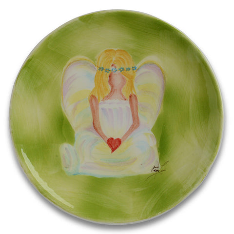 Angel Plate with Heart
