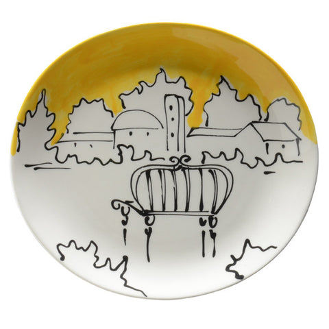 Appunti di Viaggio Yellow Dinner Plate