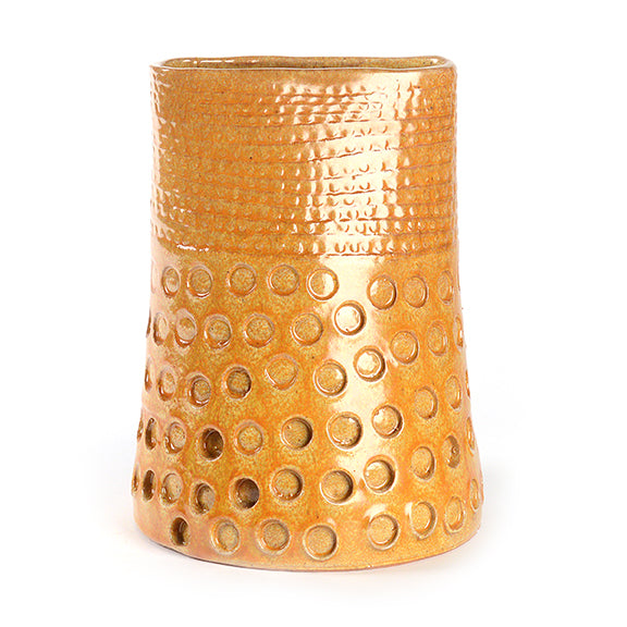 Artist Series Wide Yellow Vase