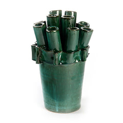 Artist Series Green Tube Vase
