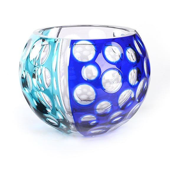Artist Series Turquoise and Blue Glass Bowl