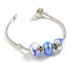Charm with Foil in Gray and Blue