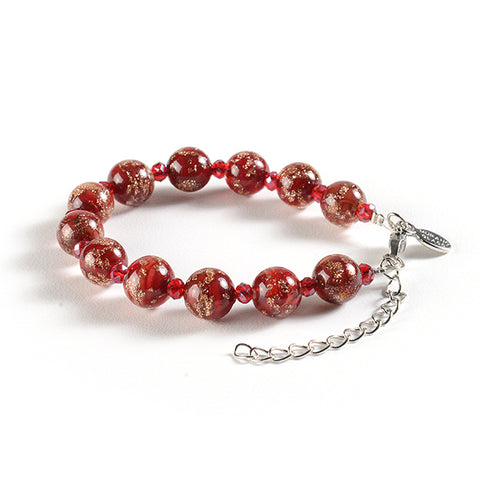 Braccialetto with Clasp in Red