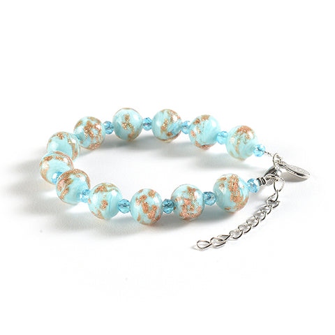 Braccialetto with Clasp in Light Blue