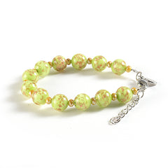 Braccialetto with Clasp in Light Green
