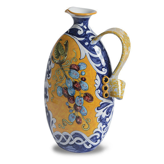 Pitcher classical blue and yellow