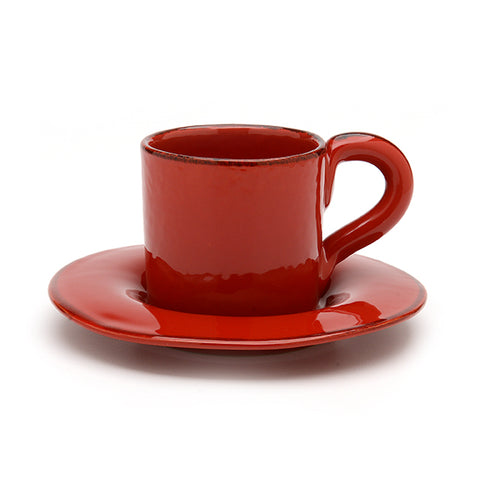 Rosso Espresso Cup and Saucer