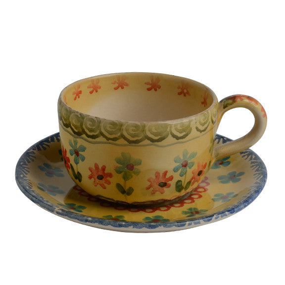 Tea Cup and Saucer  sc 1 st  Modigliani Italian Ceramics & Italian Dinnerware-Tea Cup and Saucer-Handmade in Italy