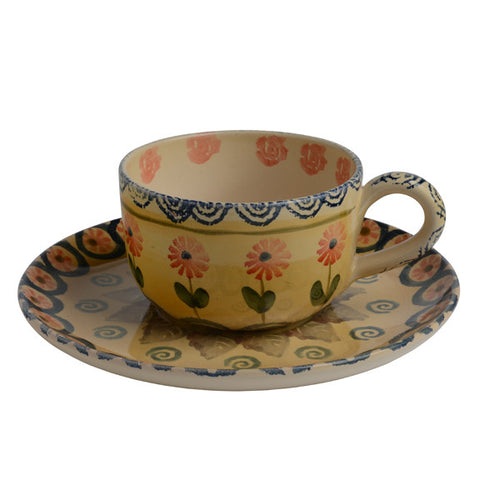 Festa Latte Cup and Saucer (set of 2)