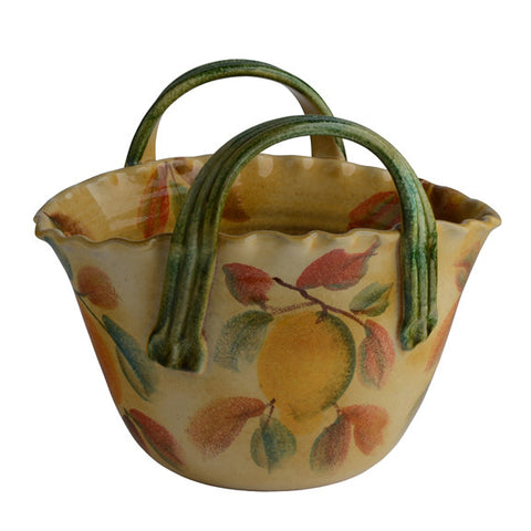 Frutta Laccata Basket Bowl with Handles
