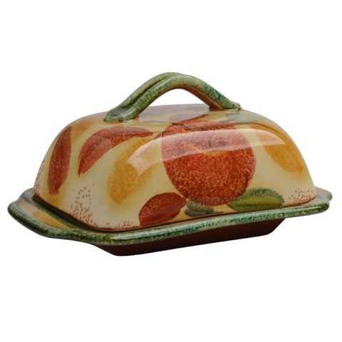 Frutta Laccata Butter Dish with Lid