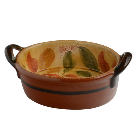 Frutta Laccata Oval Bowl with Handles