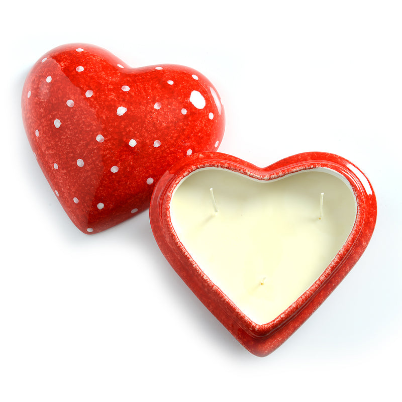 Amore Large Heart Candle