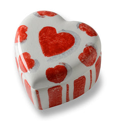 Amore Small Heart Box with Stripes