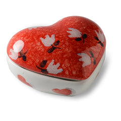 Amore Small Heart Box with Flower Top