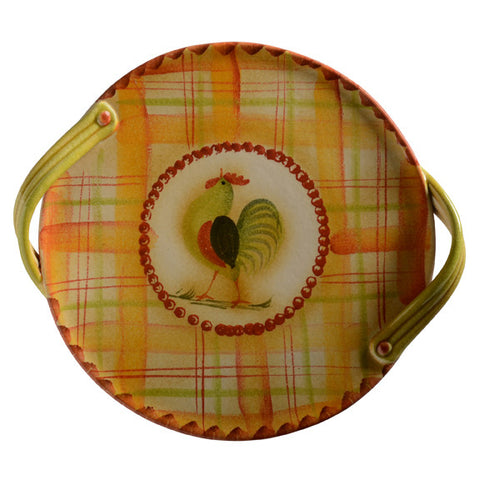 Il Canto Del Sol Cake Plate with Handles