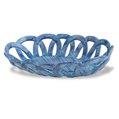 Intrecci Blue Oval Basket