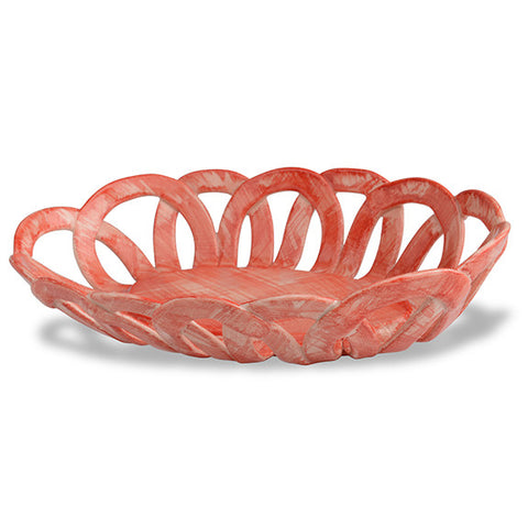 Intrecci Coral Oval Basket