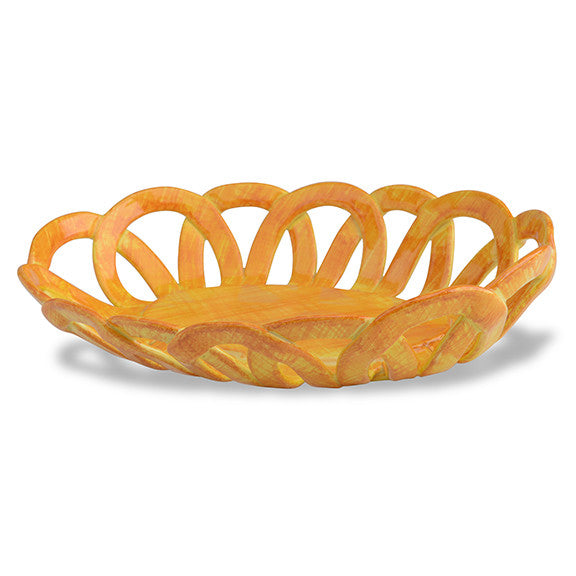 Intrecci Yellow Oval Basket