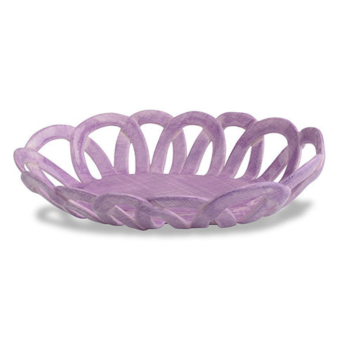 Intrecci Purple Oval Basket