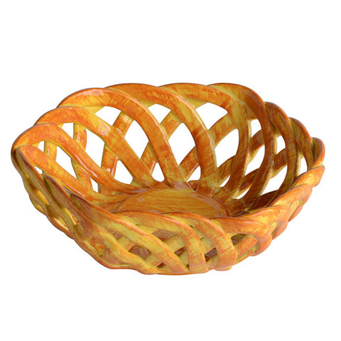 Intrecci Yellow Octagon Bon Bon Basket