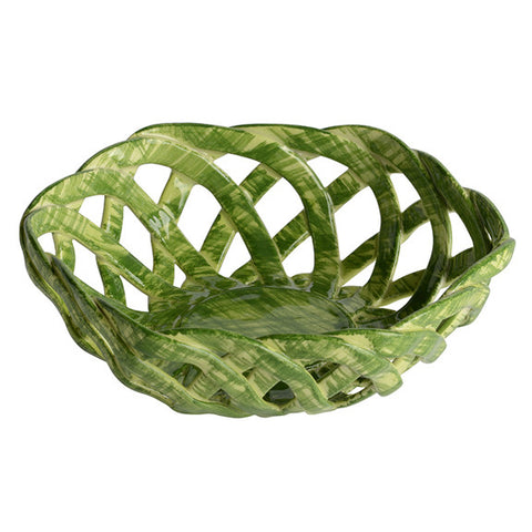 Intrecci Green Octagon Bon Bon Basket