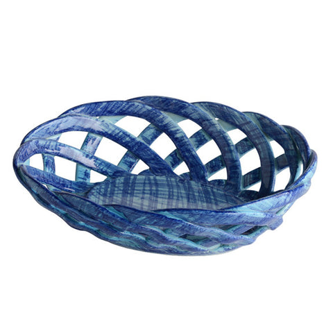 Intrecci Blue Oval Bon Bon Basket
