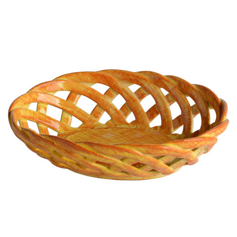 Intrecci Yellow Oval Bon Bon Basket