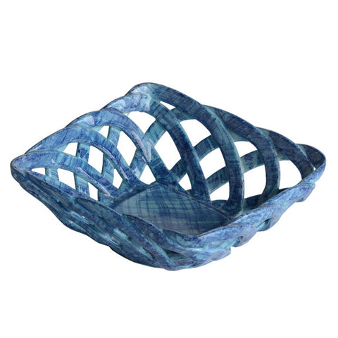 Intrecci Blue Square Bon Bon Basket