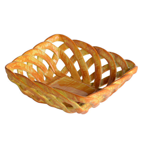 Intrecci Yellow Square Bon Bon Basket