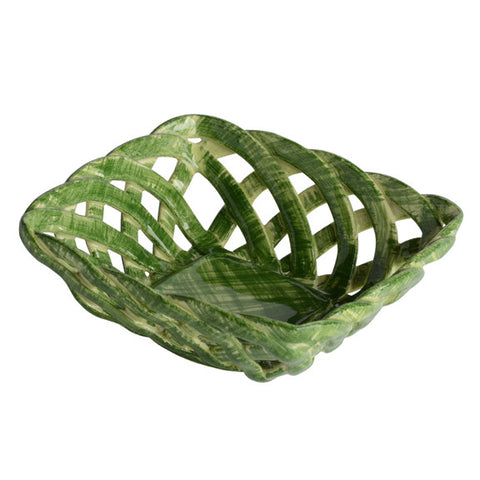 Intrecci Green Square Bon Bon Basket