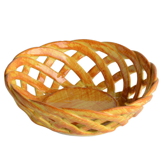 Yellow Round Bon Bon Basket