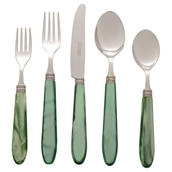 Michelangelo Green Five Piece Place Setting