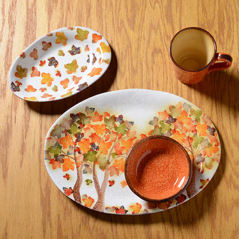 Autumn Leaves Mix and Match & Handmade Italian Dinnerware Collections