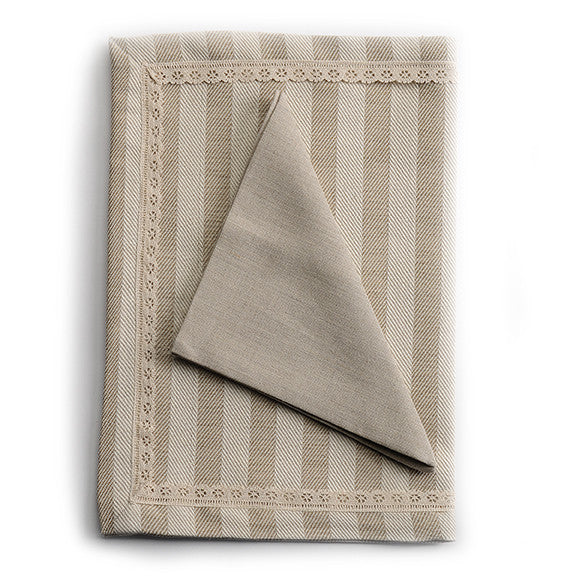 Biancheria Linen Striped Placemat and Napkin