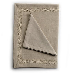 Biancheria Linen and Lace Placemat and Napkin