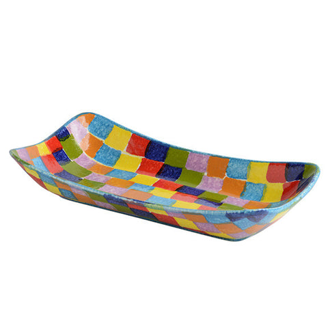 POP Check Small Rectangular Platter